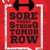 Sore Today Gym Poster