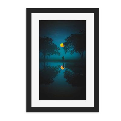 Golden Blue Wall Art Print