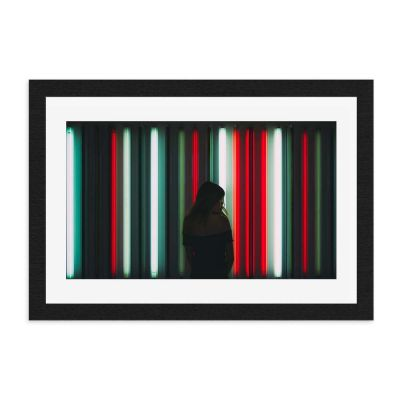 Red White Green Framed Art Print