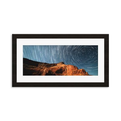 Star Spiral Framed Art Print