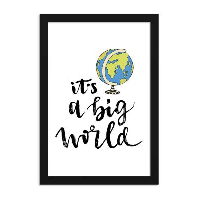 It's a Big World Travel Poster