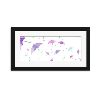 Umbrella Party Framed Wall Art Print