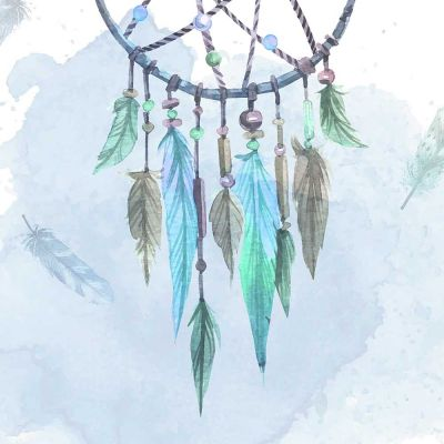 Dreamcatcher Black Framed Wall Art Print