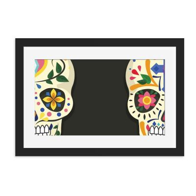 Double Trouble Black Framed Wall Art Print