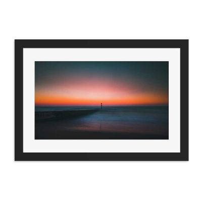 Soft Sunset Black Framed Wall Art Print