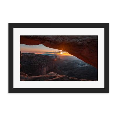 Canyon Sunrise Black Framed Wall Art Print