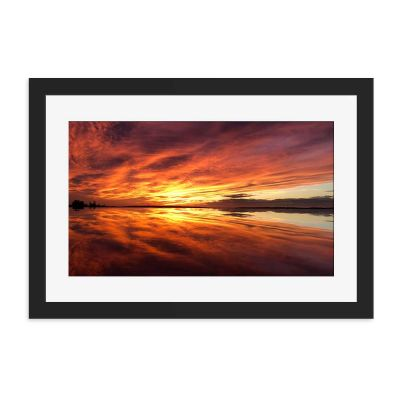 Sunset Mirror Black Framed Wall Art Print