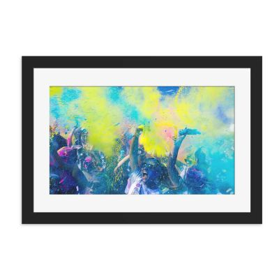 Festival Of Colour Black Framed Wall Art Print