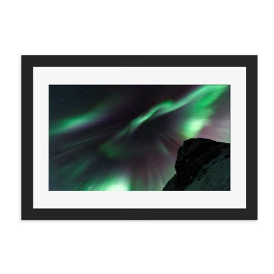 Aurora Explosion Black Framed Wall Art Print