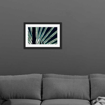 White Stripes Black Framed Wall Art Print