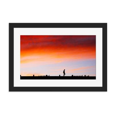 Late Night  Black Framed Wall Art Print