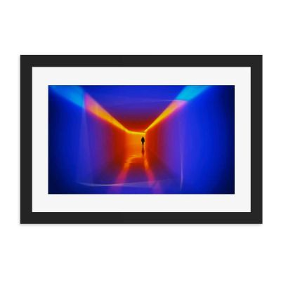 Orange Blue Hue Black Framed Wall Art Print