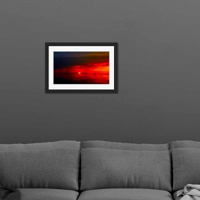 Red Sky At Night Black Framed Wall Art Print