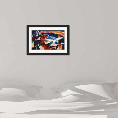 Abstract Journey Black Framed Wall Art Print