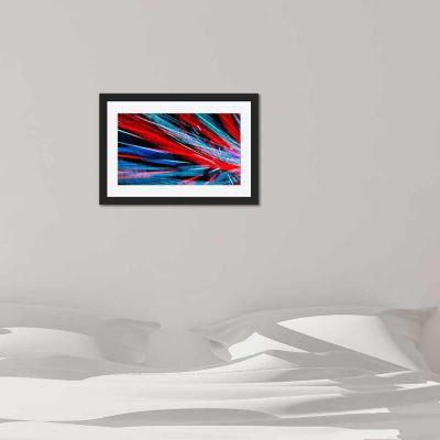 Light Blurr Black Framed Wall Art Print
