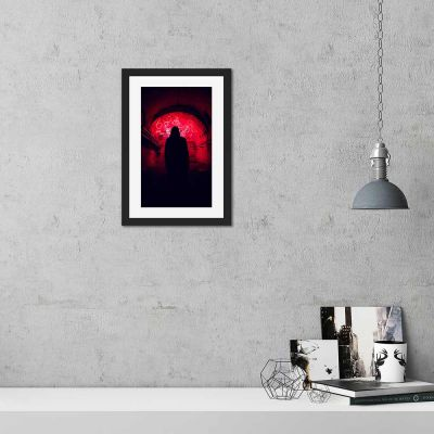After Hours Silhouette Black Framed Wall Art Print