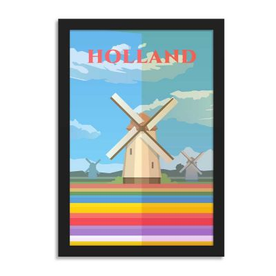 Holland Vintage Travel Poster Framed Wall Art