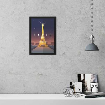 Paris Vintage Travel Poster Framed Wall Art