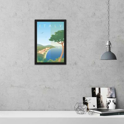 Italy Vintage Travel Poster Framed Wall Art