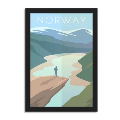 Norway Vintage Travel Poster Framed Wall Art