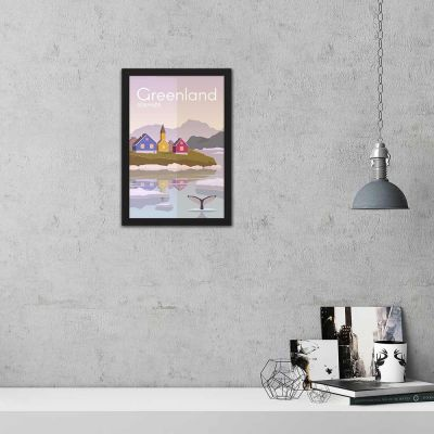 Denmark Greenland Vintage Travel Poster Framed Wall Art