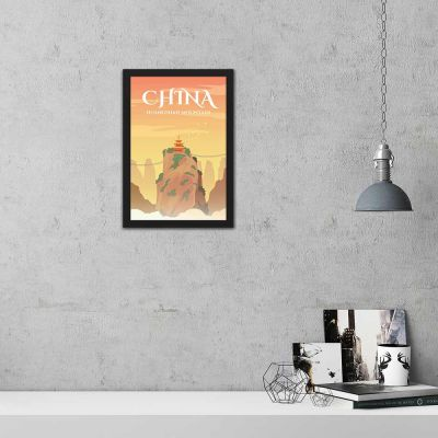 China Vintage Travel Poster Framed Wall Art