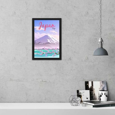 Fuji Japan Vintage Travel Poster Framed Wall Art