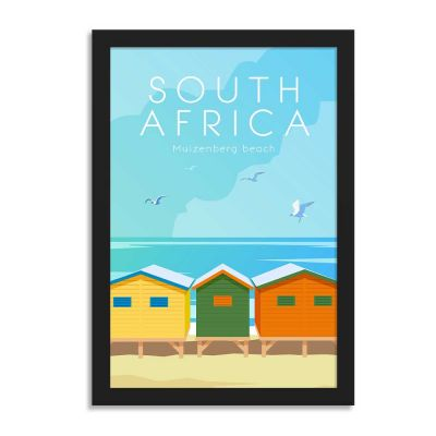 South Africa Vintage Travel Poster Framed Wall Art
