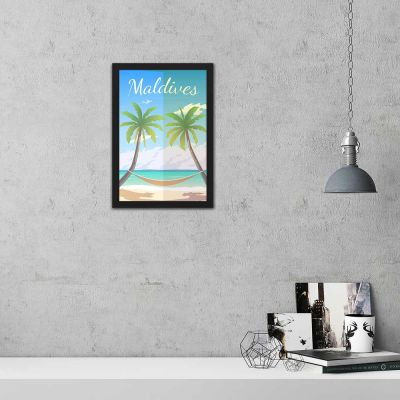 Maldives Vintage Travel Poster Framed Wall Art