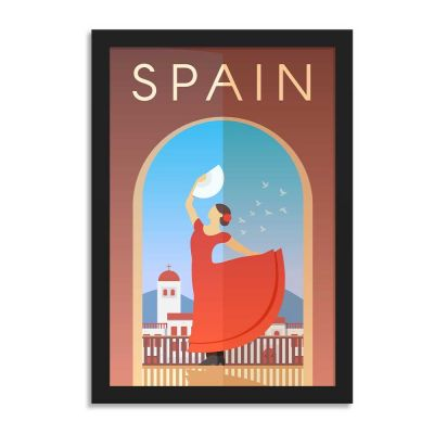 Spain Vintage Travel Poster Framed Wall Art