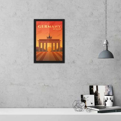 Germany Berlin Vintage Travel Poster Framed Wall Art