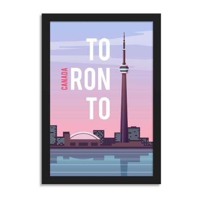 Canada Toronto Vintage Travel Poster Framed Wall Art