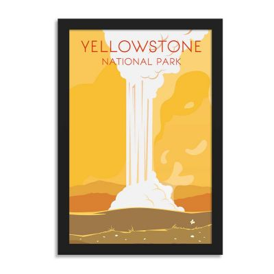 Yellowstone National Park Vintage Travel Poster Framed Wall Art