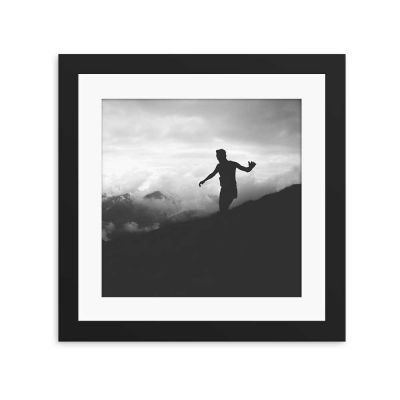 Sky Walker Silhouette Black Framed Wall Art Print