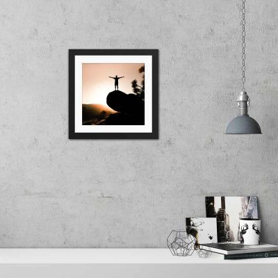 Look At Me Silhouette Black Framed Wall Art Print