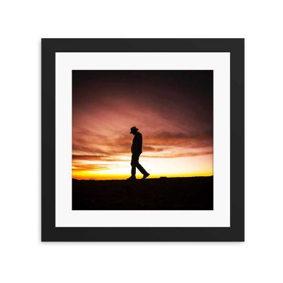 Thriller Silhouette Black Framed Wall Art Print