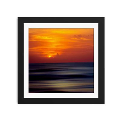 Ocean Sunset Black Framed Wall Art Print