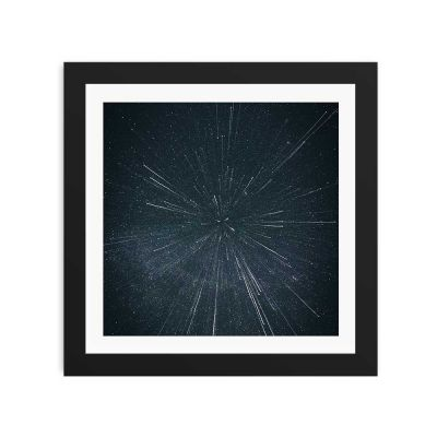 Hyper Drive Black Framed Wall Art Print