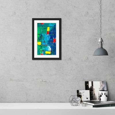 Holiday Abstract Black Framed Wall Art Print