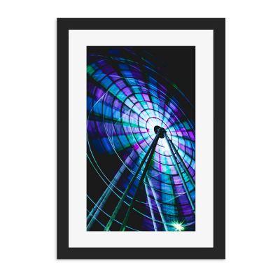 Big Wheel Black Framed Wall Art Print