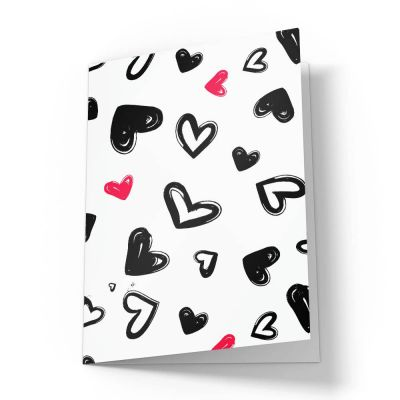 Doodle Hearts Love Valentines Card