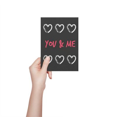 You And Me Valentines Card