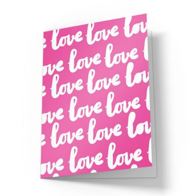 Love Love Love Valentines Card