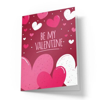 Be My Valentine Hearts Valentines Card