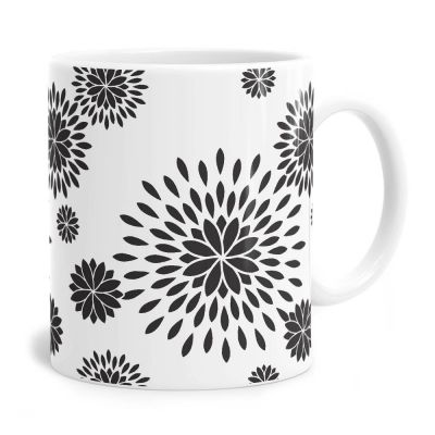 A Flower Power Pattern Mug