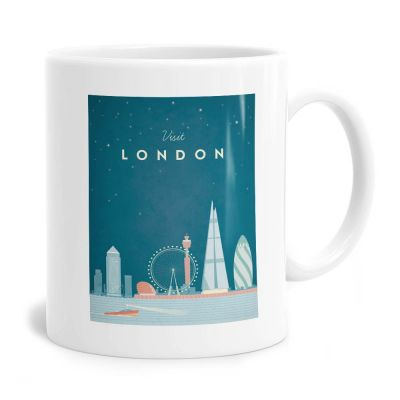 Visit London Travel Poster Mug