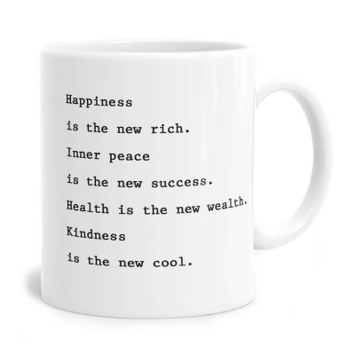 Happiness Is The New Rich Mug