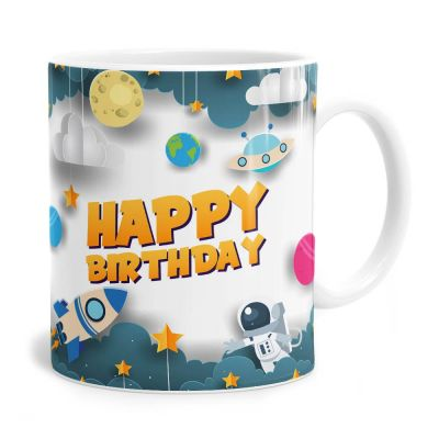 Space Man Birthday Tea Coffee Mug