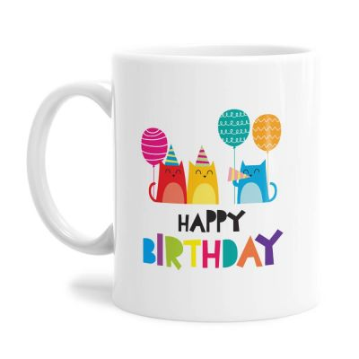Cute Cats Birthday Tea Coffee Mug