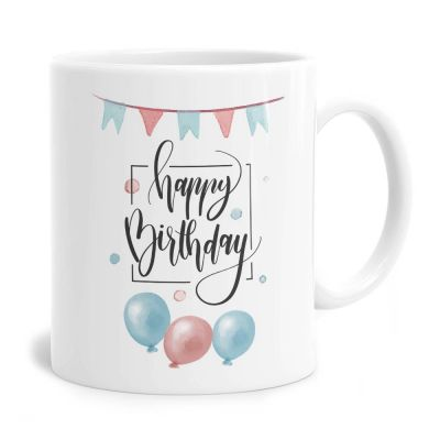 Watercolour Scene Birthday Tea Coffee Mug